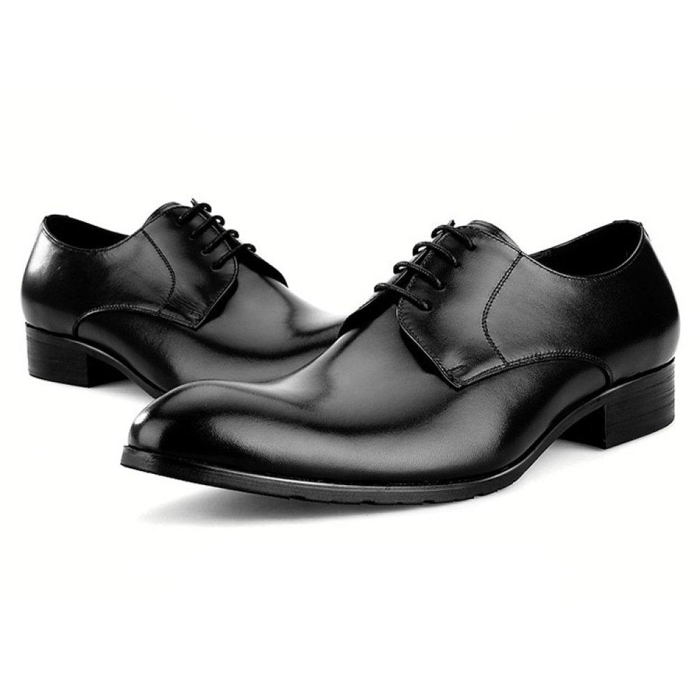 RSHENG Qualität Derby Schuhe Der Männer Frühling Sommer schwarz Sommer Business Casual Schuhe schwarz Sommer 2af812