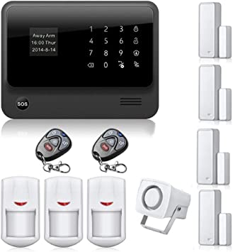 Home Security Wireless WIFI GSM 3G GPRS Alarm System APP Remote Control RFID Car