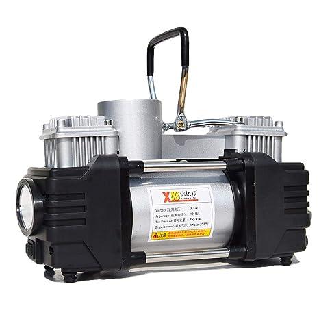 YONG FEI Compresores de aire - Compresor de aire de doble cilindro para automóvil con luz