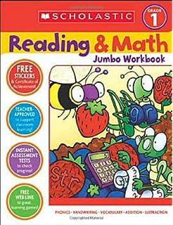 Amazoncom Reading Math Jumbo Workbook Grade 2 9780439786010