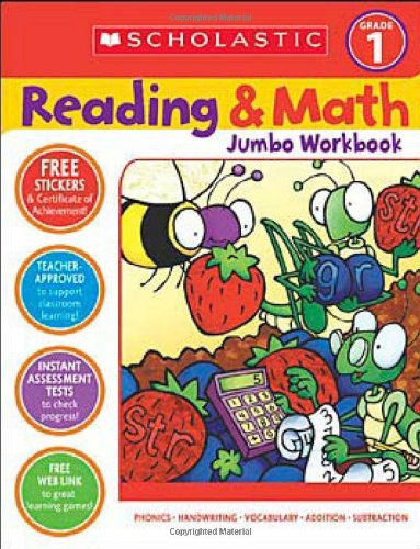 Reading & Math Jumbo Workbook: Grade 1 (Cut And Paste Math Worksheets For First Grade)