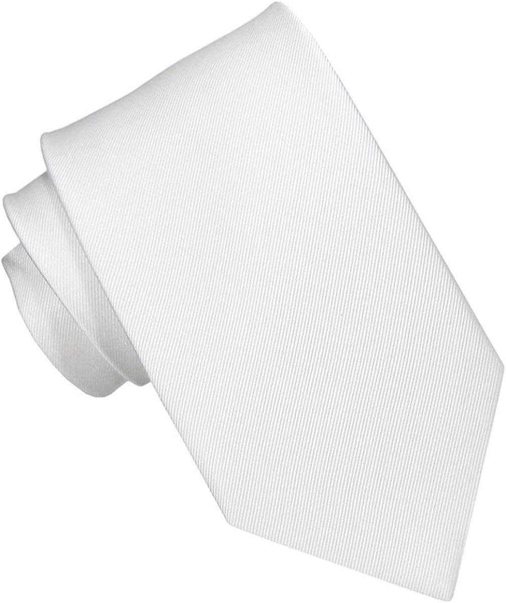 Corbata Pala Estrecha Seda Blanca. Corbatas de seda para hombre ...