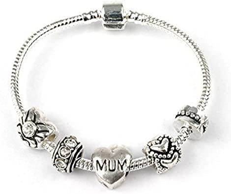 Liberty Charms Age 18 Birthday Silver Romance Silver Plated Charm//Bead Bracelet