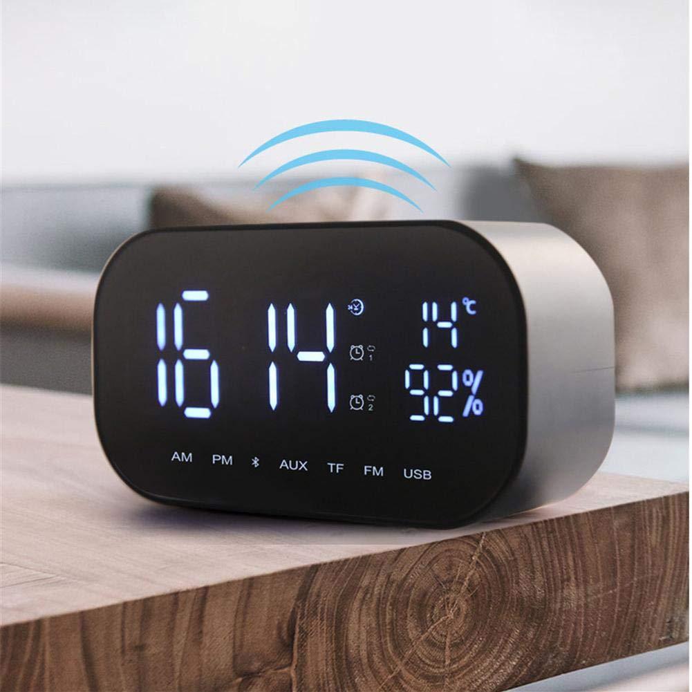 Bluetooth Speakers-New Wireless Smart FV-S2 Clock Bluetooth Speaker with Loud Stereo Sound,Mirror TF Card Speaker Sound Box