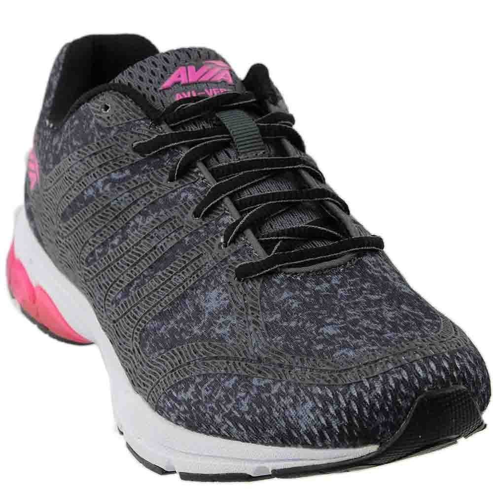 Avia Women's Avi-Versa Sneaker, Iron Grey/Black/Pink Energy, 9.5 Medium US