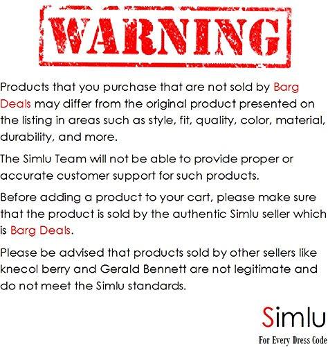 Simlu Women's A Line Flared Skater Skirt, Black, Large