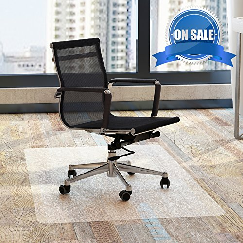 Chair Mat Office for Hardwood Floors 48 x 36 - FEZIBO Floor Mats for Desk Chairs by FEZIBO