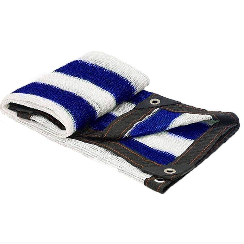 NAN Rete a 6 Poli Blu e Bianca Rete Protezione Solare Rete di Protezione Foro di Isolamento Rete di Protezione UV per Giardino Vele Parasole (Dimensioni   3X5m)