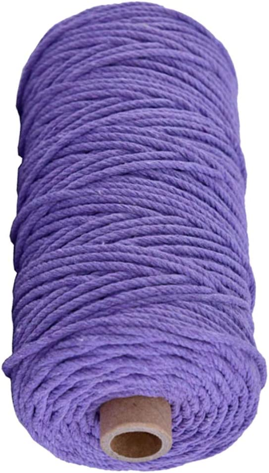 Exceart Cotton Rope For Crafts Macrame Thread Cotton Twine String Knitting Thread Macrame Supplies For DIY Crafts Sewing 3mm x 100M Red