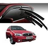 Auto Pearl - Premium Quality Car Rain Wind Door Visor Side Window Deflector For - Maruti Suzuki Esteem - Set Of 4 Pcs