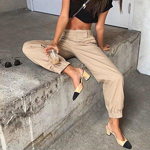 zahuihuiM Femmes Pantalons Mode ne Pantalon Cha Sueur Kaki Automne Casual Harem Printemps Baggy qtdB1rq