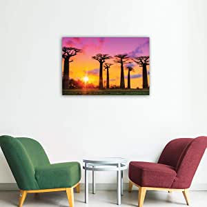 Dakayek Wall Print on Canvas for Home Decor, Size 60x40 cm