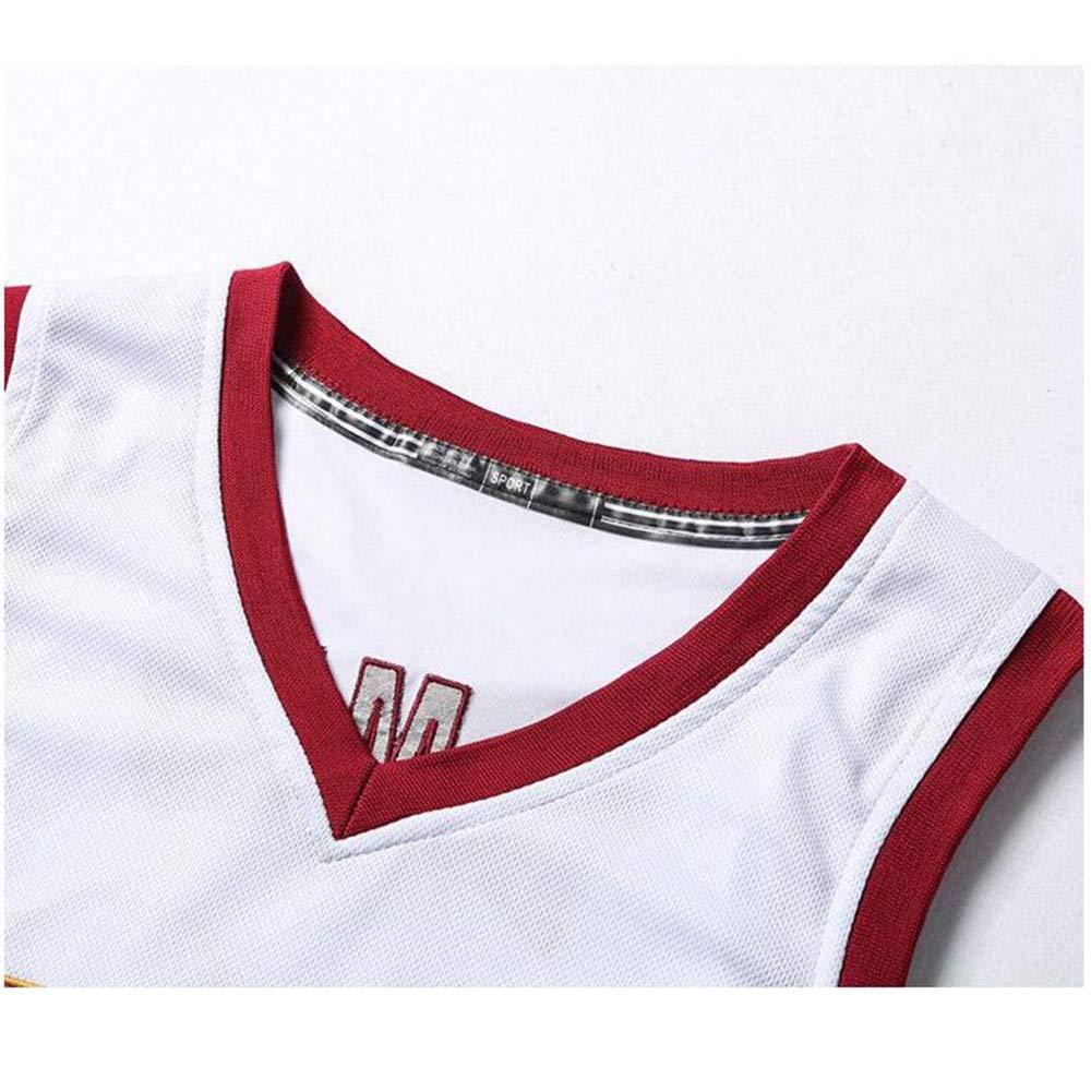 James Sport Estivi Abbigliamento da Basket WSZS Cleveland Cavaliers No Canotte Uomo in Alto Compreso Pantaloncini 23 Maglia da Basket
