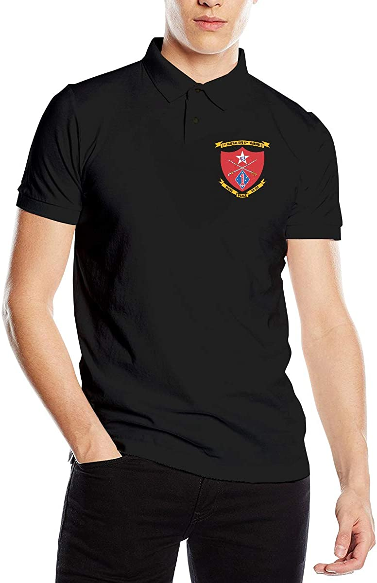 WORTHOY 1ST BN 5TH Marines Mens Casual Polo Shirt