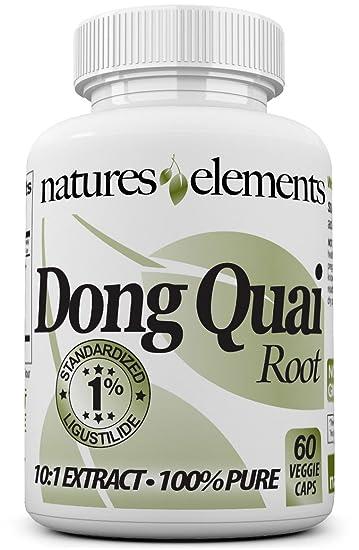 Natures Elements Dong Quai Root - Standardized 10:1 Extract - 1%  Ligustilide -