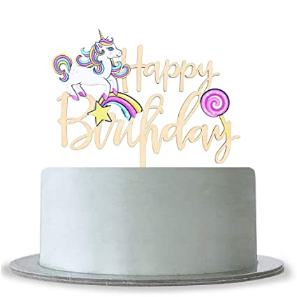 Amazon Unicorn Happy Birthday Cake Topper 1st 2nd 3rd