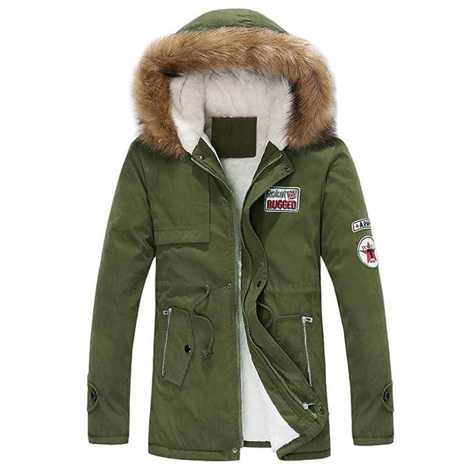MEIbax Damen Männer Plus Größe Pelzkragen Übergangs-Jacke Paar Mantel  Baumwolle Tasche Lange Kapuzenjacke Winterjacke b488a89659