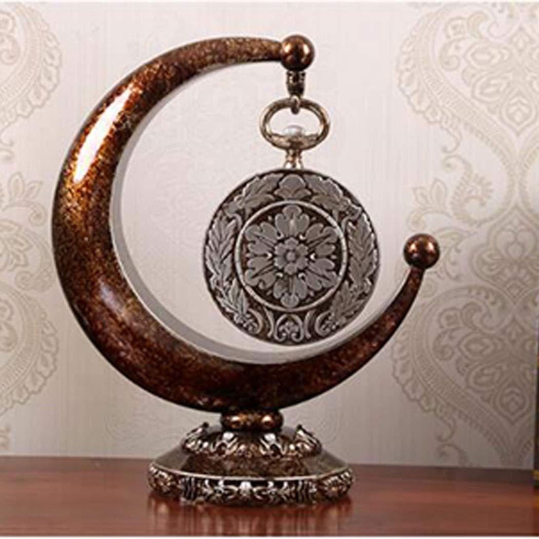 HONGNA European Plastic Clock Ornaments Living Room Home Clocks Atmosphere Sitting Clocks Desktop Pendulum Clock Creative Desk Clock Desktop Clocks 12 Inches (Color : Brown, Size : 12 inches) by HONGNA (Image #7)