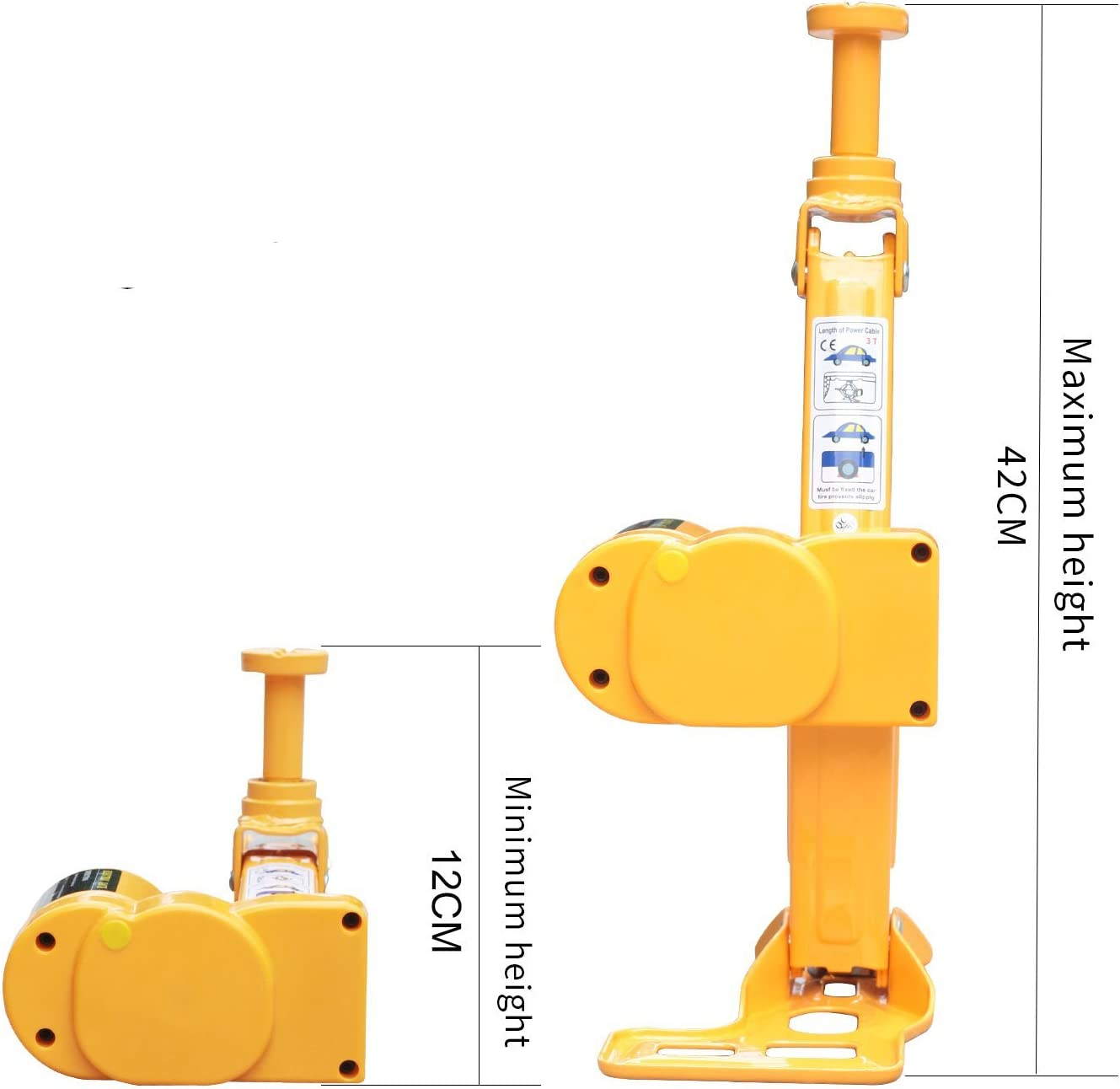 3 in 1 12V DC 3T Electric Hydraulic Floor Jack Lift 6600 LBS Car Use Automatic