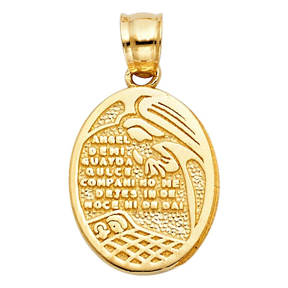 17mm x 14mm 14k Yellow Gold Religious Charm Pendant