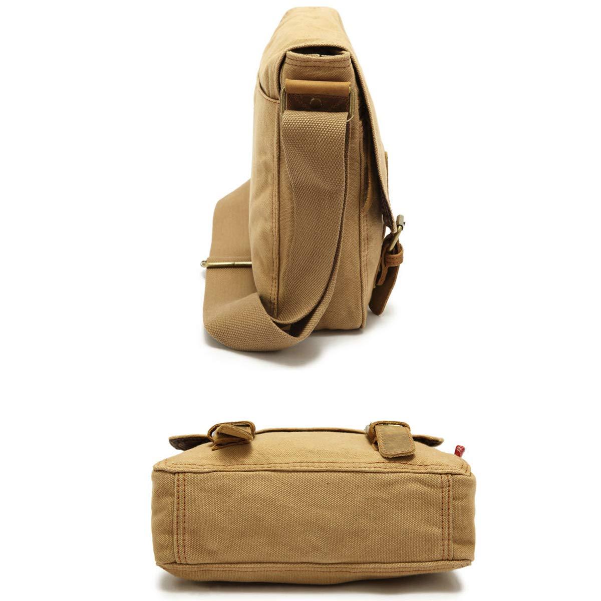 EFGIU Mens Messenger Bag Canvas Shoulder Bag Travel Rucksack Sling Bag Cross body bag for men
