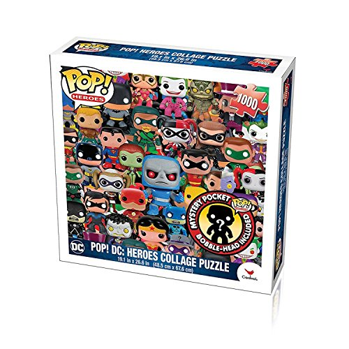 Funko Pop Heroes, DC Comics Pop Heroes Collage Jigsaw Puzzle