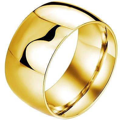 BOHG Jewelry Mens Womens Wide 11mm Stainless Steel Biker Rings