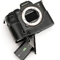 Sony ソニー A7R4 専用 オープナブルタイプ 本革 ボディケース 底面開閉 (電池, SDカード交換可) (ブラック)