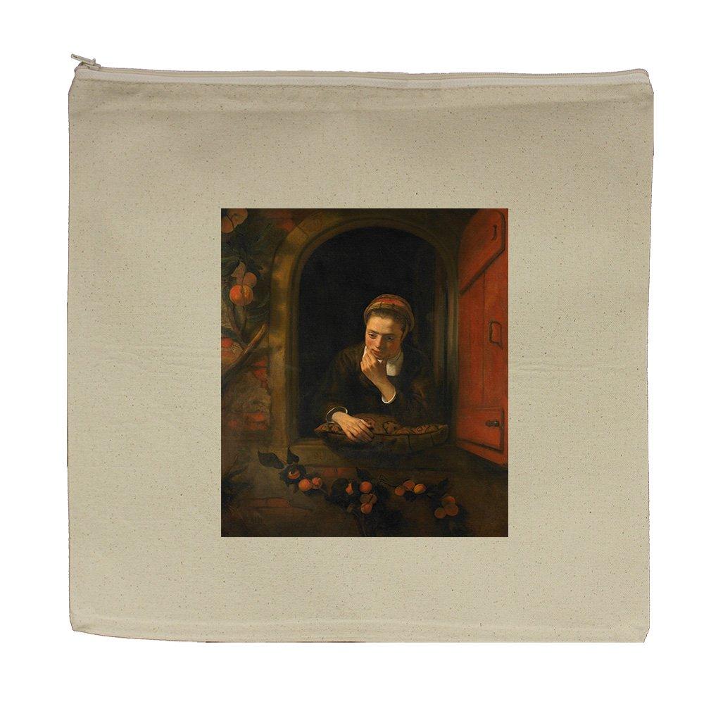 Girl At Window The Daydreamer (N Maes) Canvas Zipper Tote Bag Makeup Bag