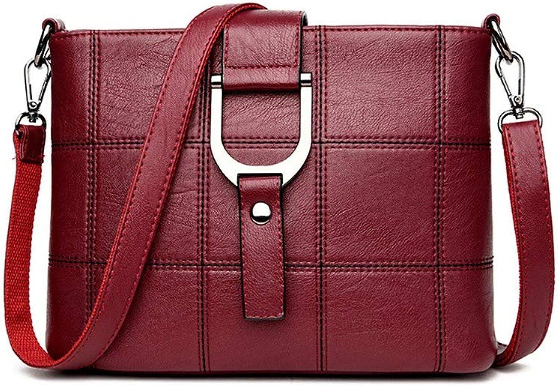 Luxury Plaid Handbags Women Bags Designer Brand Crossbody Shoulder Bags For Women Leather Ladies Bag