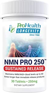 ProHealth NMN Pro 250 Sustained Release (250 mg, 30 Tablets) Nicotinamide Mononucleotide