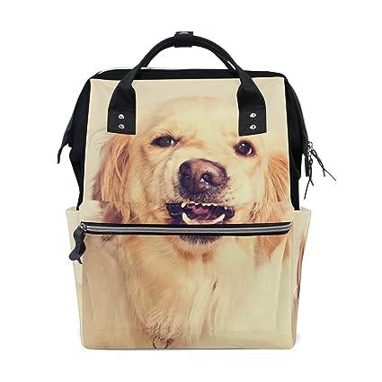 Golden Retriever - Mochila de pañales para perro, bolsa de pañales para mamá, bolsa
