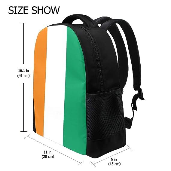 773cb5677df9 Amazon.com: Cote D'Ivoire Flag Student Backpack, Laptop School ...