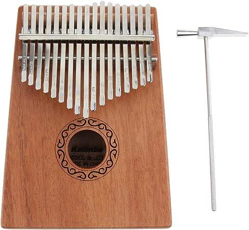 1 Pieza 17 Teclas Kalimba Thumb Piano Producción Instrumentos Musicales Duradero