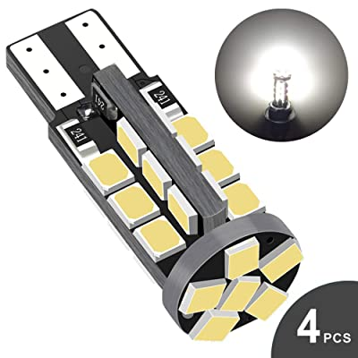 Audak 194 LED Bulb 6000K Xenon White Super Bright 168 2825 W5W T10 Wedge 30-SMD 2835 Chipsets Error Free for Car Interior Dome Map Door Courtesy License Plate Lights (Pack of 4): Automotive [5Bkhe1501889]