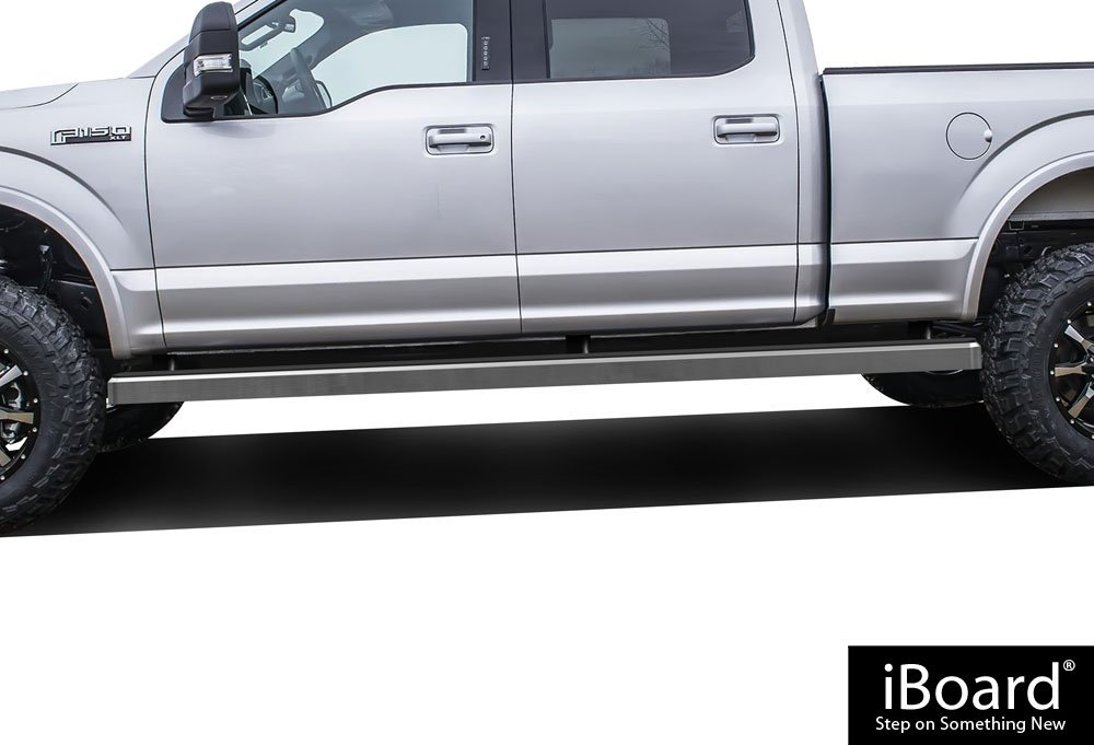 APS Wheel to Wheel iBoard 6'' Custom Fit 2015-2019 Ford F150 SuperCrew Cab 6.5ft Bed Pickup 4-Door / 2017-2019 Ford F-250/F-350 Super Duty (Nerf Bars | Side Steps | Side Bars)