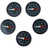 MagiDeal 5pcs Mini Boussole Portable en Acrylique Compass Set pour Randonnée Camping Escalade Sport