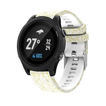 Correa de repuesto para reloj Garmin Forerunner 935, elegante diseño de camuflaje de Y56, gel de sílice, suave, instalación rápida, Colour A: Amazon.es: ...