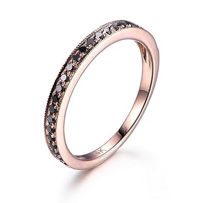 Amazoncom Black Diamond Wedding Band For Women Black Diamond Ring