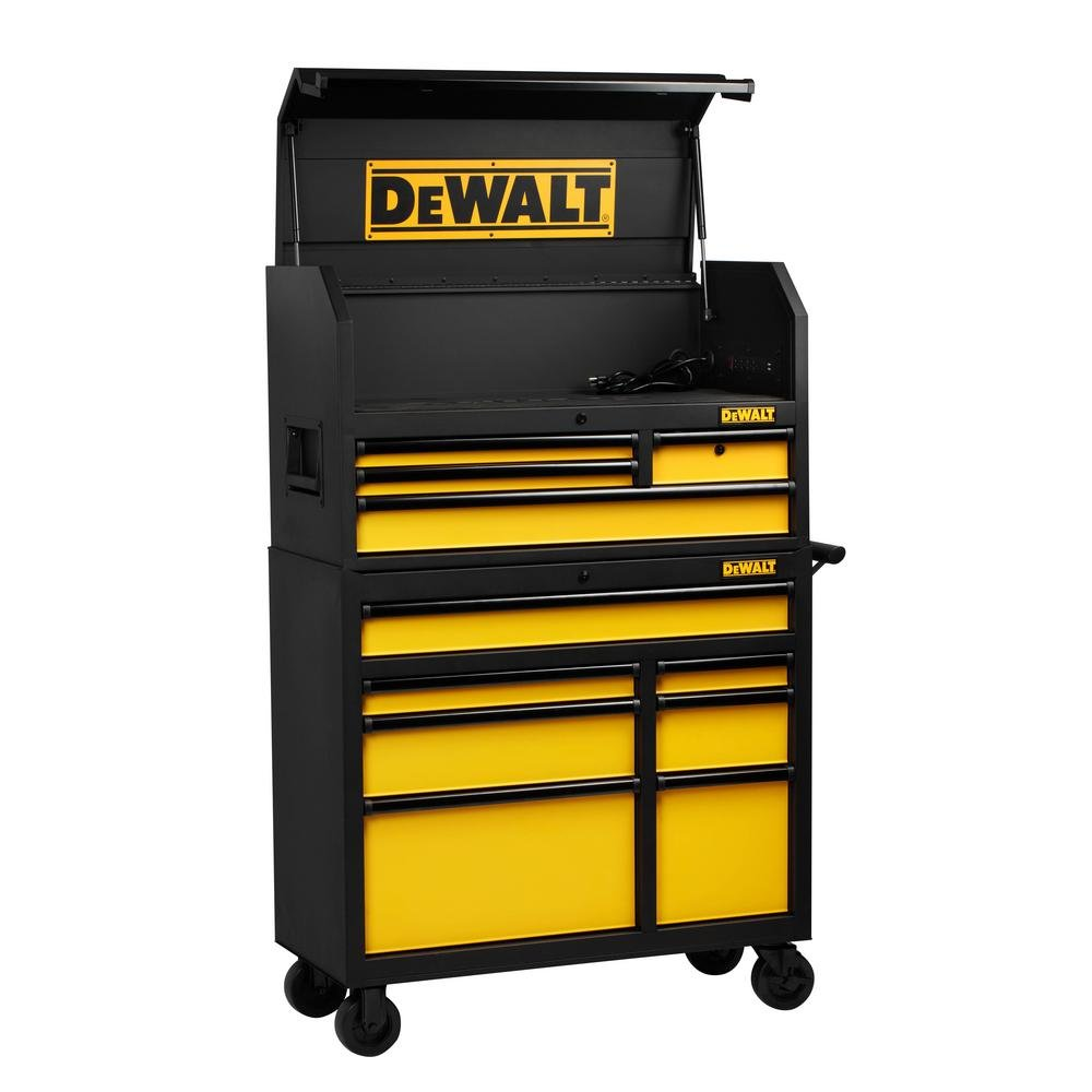 Dewalt dwmt78074ローリングツールキャビネットセット40 in。11-drawerツール胸ストレージオーガナイザー B078NL9HVY