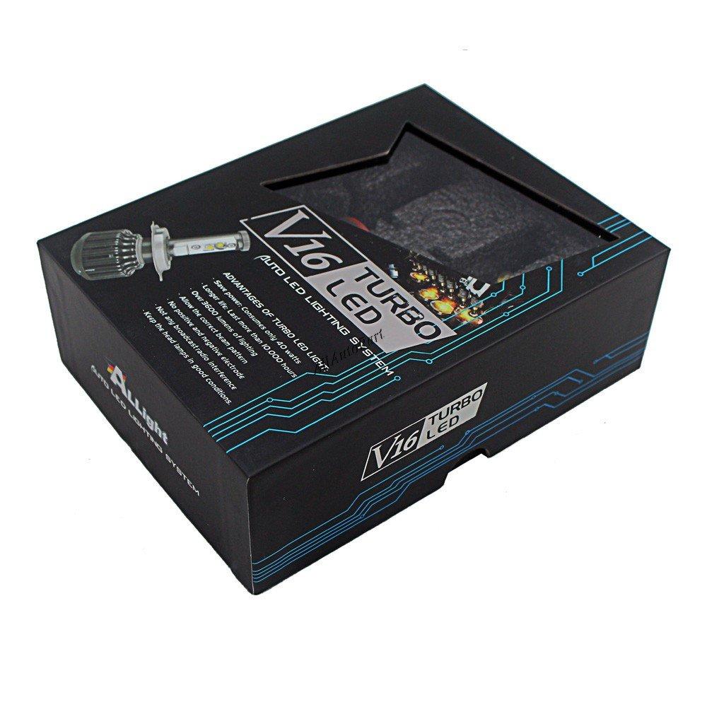 Amazon.com: 2Pcs Auto Car led headlamp H7 H8 H9 H11 9005 9006 CREEs 30w 40W V16 Turbo led lamp auto 4000LM2 LED head light Headlight Kit: Automotive