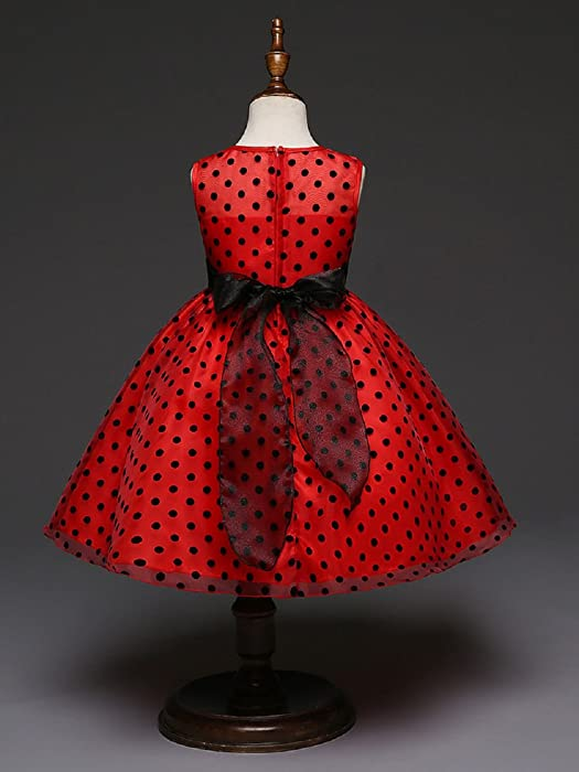 ae7340e18c2 Girls Dress Custom Floral Printing Communion Wedding Flowers Girls Dresses  2-14 Red