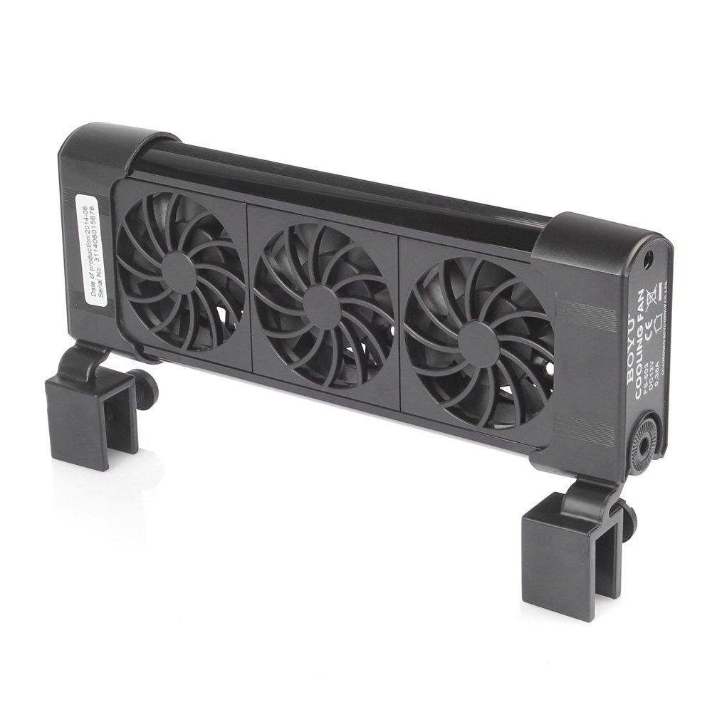 Boyu iPettie Aquarium Cooling System Fan Chiller + AC Adapter (3 Fan)
