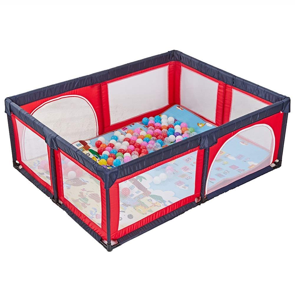高い品質 ボールマット、8パネルフェンス屋内屋外の少年少女の安全な遊び場のヤード折り畳み幼児のホームポータル B07HC4RS7F Red) (色 : Red) Red Red B07HC4RS7F, かぐ屋:94efed13 --- a0267596.xsph.ru