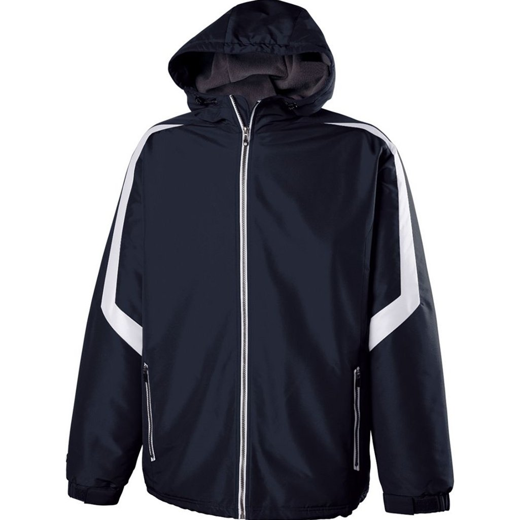 Holloway Youth Charger Jacket (Small, Navy/White) by Holloway