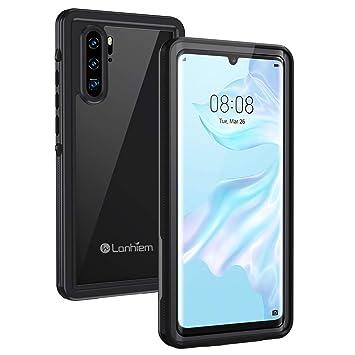 Lanhiem Funda Impermeable Huawei P30 Pro, Carcasa Resistente Al Agua IP68 [Protección de 360 Grados], Carcasa para Huawei P30 Pro Compatible con ...