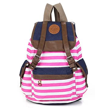 Amazon.com: Canvas Backpack School Bag College Laptop Bag Girls ...