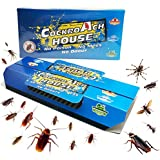 Becase 10 Pack Cockroach Traps with Bait, Sticky Paper House Roaches Captured Killer Safely