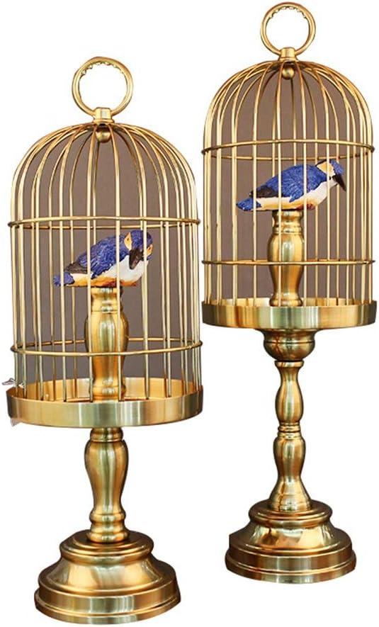 DANJIA Adornos Dos Juegos de Gama Alta Regalos Urraca Animal Jaula de pájaro Grande (22 * 22 * 66 cm) jaulas pequeñas (22 * 22 * 58cm)