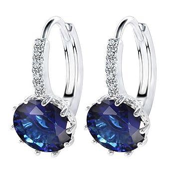 Fashion Swarovski 18K White Gold Filled Crystal Rhinestone Hoop Earrings  for Womens Gift d8d6ae29f0